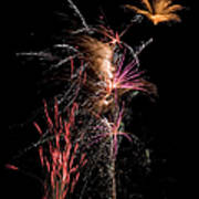 Fireworks Art Print by Cindy Singleton