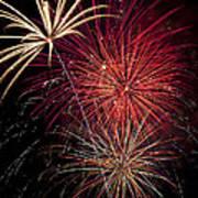 Fireworks Art Print by Garry Gay