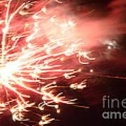 Fireworks In Texas 2 Art Print