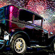 Fireworks In The Ford Art Print by Suni Roveto