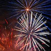 Fireworks Rectangle Art Print