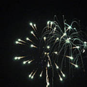 Fireworks With Moon II Fm2p Art Print
