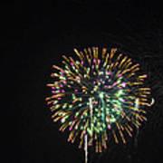 Fireworks With Moon IIi Fm3p Art Print