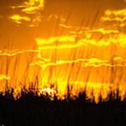 Firey Sunset Art Print
