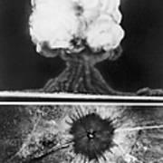 First Atomic Bomb, 1945 Art Print