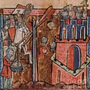 First Crusade Germ Warfare Siege Art Print