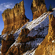 First Snow At Bryce Canyon Art Print