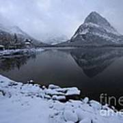 First Snow At Grinnell Art Print
