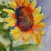 First Sunflower Art Print by Terri Maddin-Miller