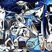 Fish Guernica Art Print