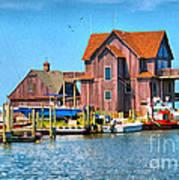 Fish House On The Island Art Print