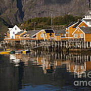 Fishermen's Village Sakrisoy  Art Print