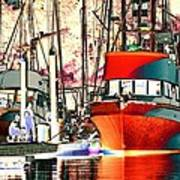Fishing Boat In Harbor Art Print