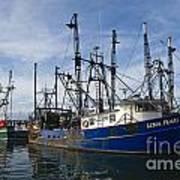 Fishing Boats At Dock Art Print