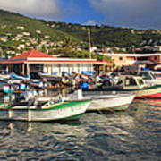 Fishing Boats In Frenchtown Art Print
