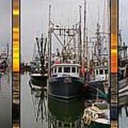 Fishing Boats In Steveston Group Photo Art Print