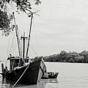 Fishing Bumboat Art Print