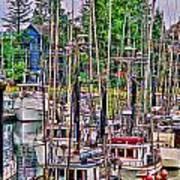 Fishing Docks Hdr Art Print