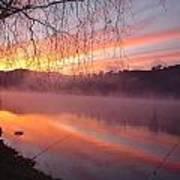 Fishing Lake Eildon Art Print