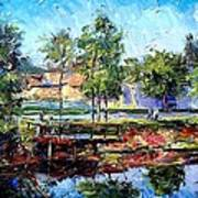 Fishing On The Canal Art Print