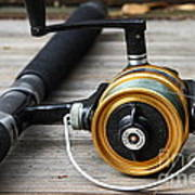Fishing Rod And Reel . 7d13547 Print by Wingsdomain Art and Photography
