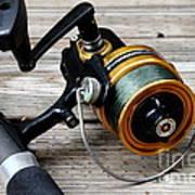 Fishing Rod And Reel . 7d13549 Art Print