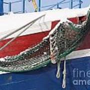 Fishing Vessel In Winter's Rest Art Print