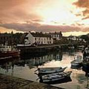 Fishing Village In Ireland Art Print