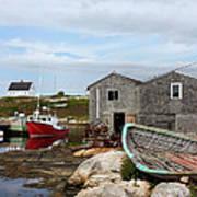 Fishing Village In Nova Scotia Art Print