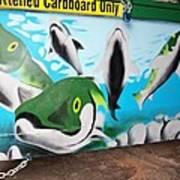 Fishy Dumpster Art Print