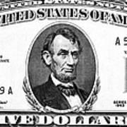 Five Dollar Bill Art Print