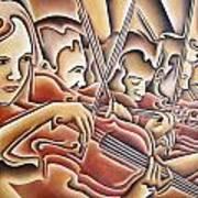 Five Violins Art Print