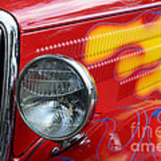 Flaming Hot Rod 2 Art Print