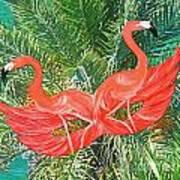 Flamingo Mask 4 Art Print