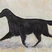 Flatcoat Retriever Art Print