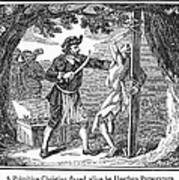 Flaying Of Christian Art Print