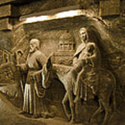 Flight Into Egypt - Wieliczka Salt Mine Art Print