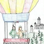 Flight Of Fancy No. Two - Sketch Art Print by Robert Meszaros