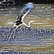 Flight Of The Egret V5 Art Print