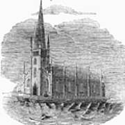 Floating Church, 1849 Art Print