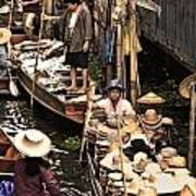Floating Market Bangkok Art Print