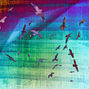 Flock Of Seagulls Art Print
