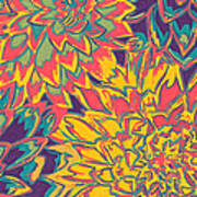 Floral Abstraction 22 Art Print