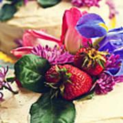 Floral Cake Art Print