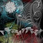 Floral Fractal Art Print