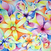 Floral Fractal Art Print by Linda Pope
