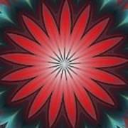 Floral Geometric 102311a Art Print