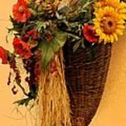 Floral Horn Of Plenty Art Print