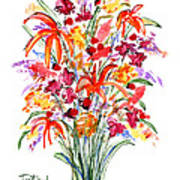 Floral Six Art Print