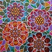 Floral Window Art Print